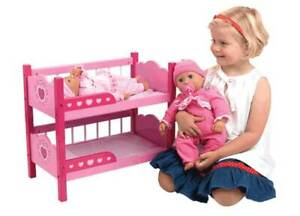 NEW Dollsworld Wooden Bunk Beds- Dolls Not Included from Mr Toys