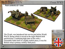 Forged in Battle FOW WW2 15mm British 25pdr Gun Pack