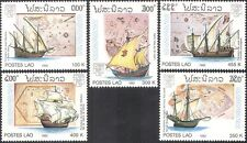 Laos 1992 Sailing Ships/Boats/Nautical/Columbus/Transport/StampEx 5v set (b8018)
