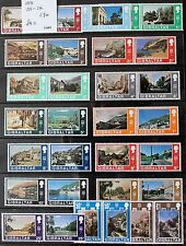 Gibraltar – 1971 DOUBLE Definitive Set of Se-Tenant Pairs UM (MNH) (R2)