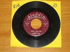 "R&B / ROCK & ROLL 45 RPM - SHIRLEY & LEE - ALADDIN 3362 - ""WHEN I SAW YOU"""