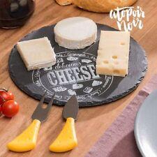 Runde Käseplatte aus Schiefer - Servierplatte