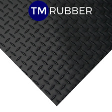 RUBBER CHECKER PLATE FLOORING/MAT/MATTING W1200MM X L500mm x 3mm Thick Free Post
