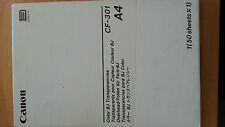 CANON COLOUR BUBBLE JET INKJET TRANSPARENCIES 50 SHEETS CF-301 210 X 297mm