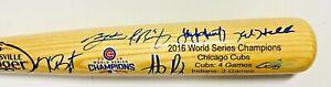 Chicago Cubs 2016 World Series Champs Team Signed LE 49/50 Bat Fanatics + MLB