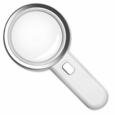 Fancii 5X High Power LED Magnifying Glass with Light, Large 3.5 Inches Lens