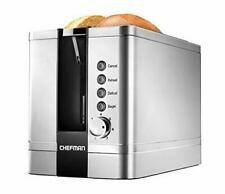 Chefman 2 Slice Toaster with Extra Wide Slots for Bagels Waffles Bread Tart