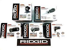NEW RIDGID 5 PC JOBMAX HEAD SET- DRILL HAMMER IMPACT JIG & RECIPROCATING SAW KIT