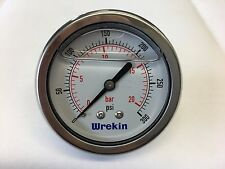 63mm Hydraulic Pressure Gauge BACK ENTRY 0-300 PSI 20 Bar Stainless GC6320/04