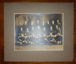 1914 MEDFORD MASSACHUSETTS High School football team HUGE photo 21-0 over Malden