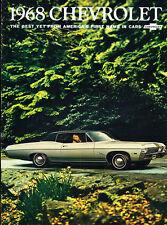1968 chevrolet caprice impala ss 28-page v2 car sales brochure bel air  biscayne
