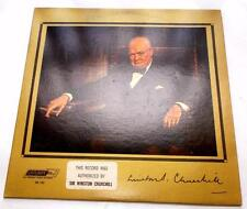 The Voice Of Winston Churchill 1964 London RB-100 LP Authorized BY WC Strong VG+