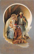 POSTCARD   GREETINGS   CHRISTMAS   Religious  Scene