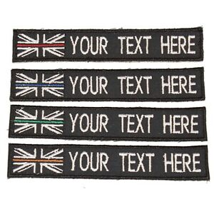UK Emergency Services PC ID TAC Vests Bag Thin Blue Line Embroidered Patch B1