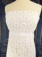 Lilly Pulitzer 8 Dress White Flower Eyelet Lace Strapless Cotton Lined Short