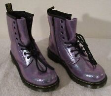 NEW Dr Martens Delaney Sparkle Womens 8-Eye Boots 6 Purple TP Split MSRP$120