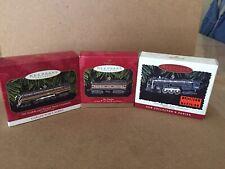 3 Lot Hallmark Keepsake Ornament Trains New In Boxes