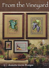 From The Vineyard Wine Grapes Counted Cross Stitch Chart Pattern