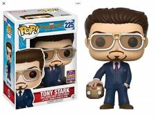 Tony Stark SDCC 2017 shared Funko Pop Holding Helmet # 225 Spider man Homecoming