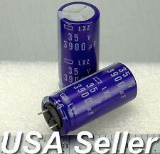 Lot of 3 - 3900uF 35V Nippon Chemi-Con LXY Japan Low-ESR Radial Capacitors - USA