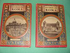 Ricordo Di Roma Parte I & II Antique Souvenir Photo Books 4 languages Rome Italy