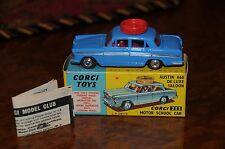 Vintage Corgi / Austin A60 Sedan / Motor Driving School / 255