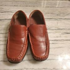 Deer Stags Boys Camel/Brown Booster Moc Toe Loafers Size 1