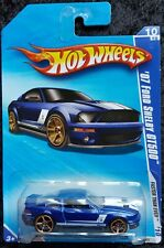 HOT WHEELS '07 FORD SHELBY GT500 FASTER THAN EVER - ROYAL BLUE & WHITE - NEW
