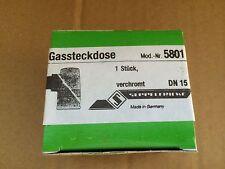 Gassteckdose von Seppelfricke Mod. Nr. 5801 Verchromt DN15 - Neu
