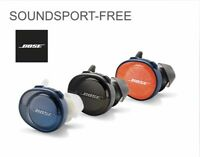 Bose SoundSport Free Bluetooth Wireless Earbuds Headphones Black, Blue & Orange