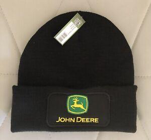 John Deere Logo Embroidered Beanie Hat
