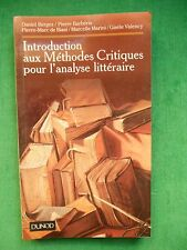 INTRODUCTION AUX METHODES CRITIQUES POUR L'ANALYSE LITTERAIRE BERGEZ BARBERIS