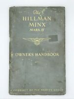 Hillman MINX Mark IV ROOTES owners handbook manual saloon sedan IB 2281-1