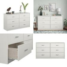 6 Drawer Dresser Modern Set Organizer Bedroom Clothes Furniture White Chest New