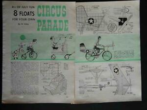 Circus Wagon Floats *Great for Parades* 1964 How-To build PLANS *8 styles