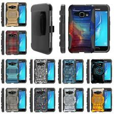 For Samsung Galaxy J Series Phone Case Hybrid Holster Belt Clip Rugged Armor