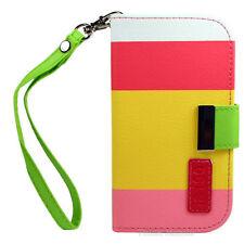 Fundas con tapa color principal multicolor de piel sintética para teléfonos móviles y PDAs