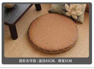 Japanese-Style Tatami Futon Seat Cushion Round Tea Ceremony Zen Floor Window Mat