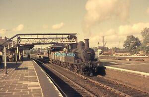 Original 35mm slide Class 14xx 0-4-2T 1420 at Leominster Station 17.09.1964