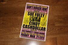 SUE FOLEY + CINDY CASHDOLLAR Texas CONCERT/GIG POSTER 2008 dobro telecaster