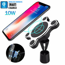 Car Magnetic Charger Holder 10W Fast Qi Wireless Charging Pad for Samsung iPhone