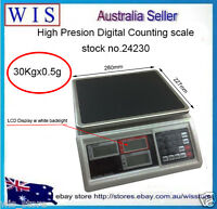 Precision Digital Tabletop Weighing and Counting Scale 30Kg * 0.5g,ONE YEAR WTY