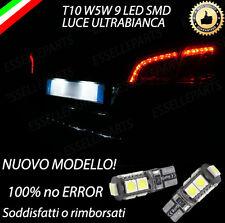 COPPIA LUCI TARGA 9 LED PER PEUGEOT 508 SW T10 W5W CANBUS 100% NO ERRORE