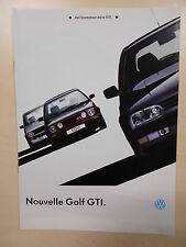 Catalogue VOLKSWAGEN GOLF GTI