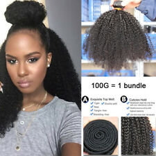 "12"" 100% Mongolian Afro Kinky Curly Virgin Hair Weave Human Hair Extensions 100g"