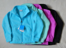 NEW Columbia Three Lakes Fleece Girls Zipper Blue Green Pink Black Jacket S M L
