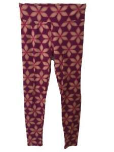 Lularoe leggings One size stretch pink tan floral pattern S M L pants