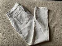 Paige Skyline Ankle Peg Maternity Jeans, Optic White, Size 32