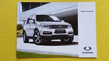 Ssangyong Rexton 2.2 EX SE Auto ELX marketing brochure sales catalogue 2016 MINT