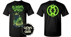 MUNICIPAL WASTE cd lgo ZOMBIE SHARK Official Glow in the Dark SHIRT XL New